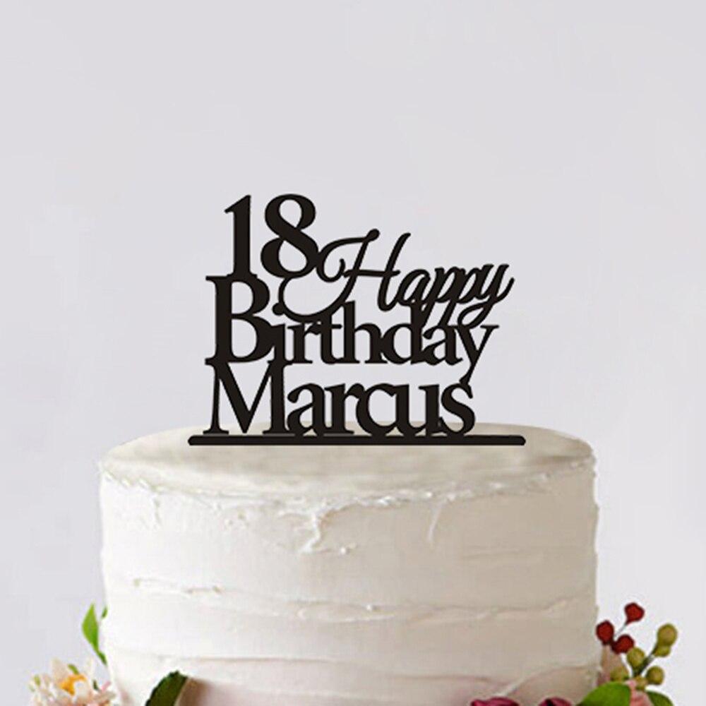 Aliexpresscom  Buy Custom Cake Topper  Years Happy Birthday - Happy birthday 18 cake