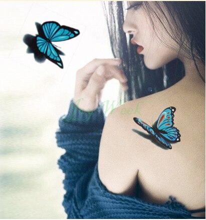 Tymczasowa Naklejka Tatuaż 3d Tatuaż Motyl Dziewczyna Mały