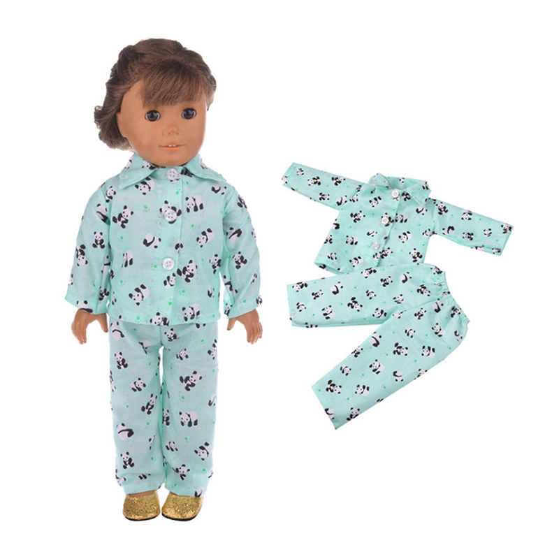 18 inch Doll Pajamas Outfit Fashioh Clothes for My Little Baby 18 39 39 Life Generation Doll Accessories toy Girl Gifts in Dolls Accessories from Toys amp Hobbies