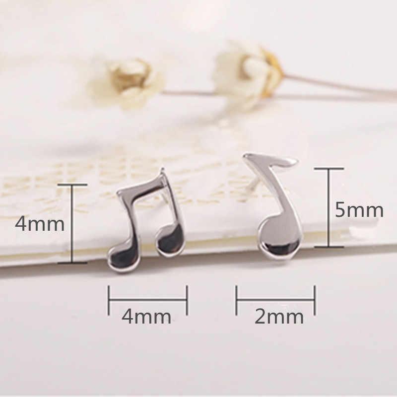 2018 real direct selling música nota brinco 925 sterling jewelry orelha hipoalergênica adorável notas de brincos de moda high-end ms