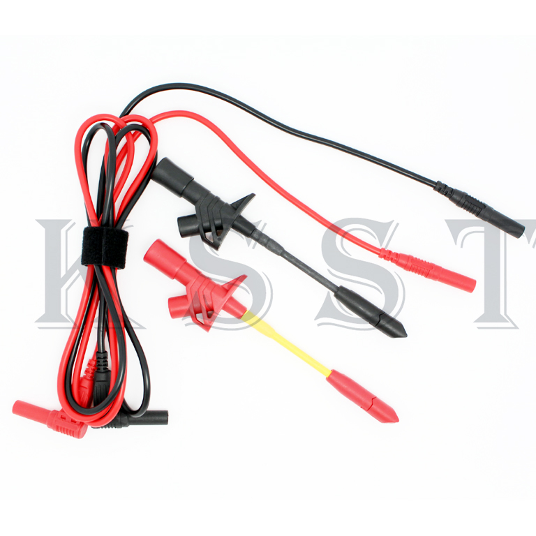 DMM02C Full Insulated Heavy-Duty Insulation Piercing Test Probe Clip + Test Lead wire дырокол deli heavy duty e0130