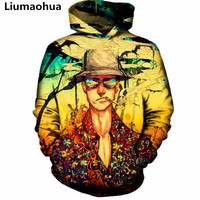 Liu Maohua new fear hooded shirt men's 3D printing autumn sportswear casual sportswear sweatshirt shirt