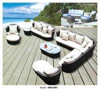 Большой размер открытый диван набор новый дизайн садовая мебель большой ротанговый диван набор Плетеный Патио Набор уличная мебель набор