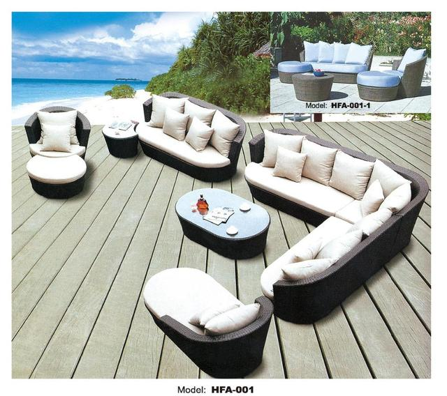 Large Size Outdoor Sofa Set New Design Garden Furniture Rattan Wicker Patio