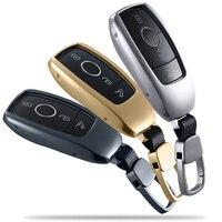 Aluminium Car Key Fob Skin Protector Cover Case Holder For Mercedes Benz 2016 2017 E Class