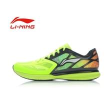 Li-Ning Men's Breathable Portable Running Shoes Anti-Slip Wearproof Outdoor PU+Fabric Sports Sneakers