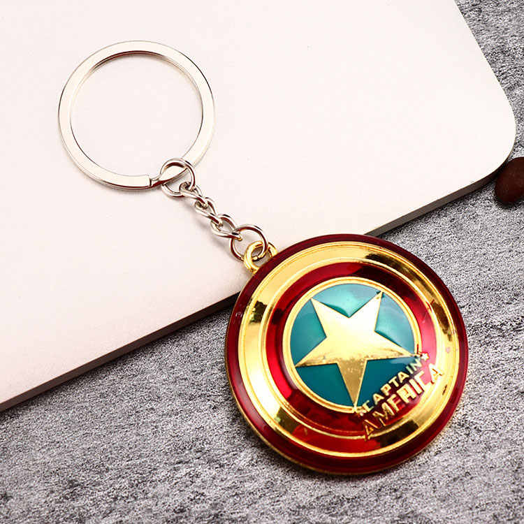 Logam Marvel Avengers Captain America Perisai Gantungan Kunci Spider Man Iron Man Mask Keychain Mainan Hulk Batman Gantungan Kunci Gantungan Kunci Mainan PJ-027-3