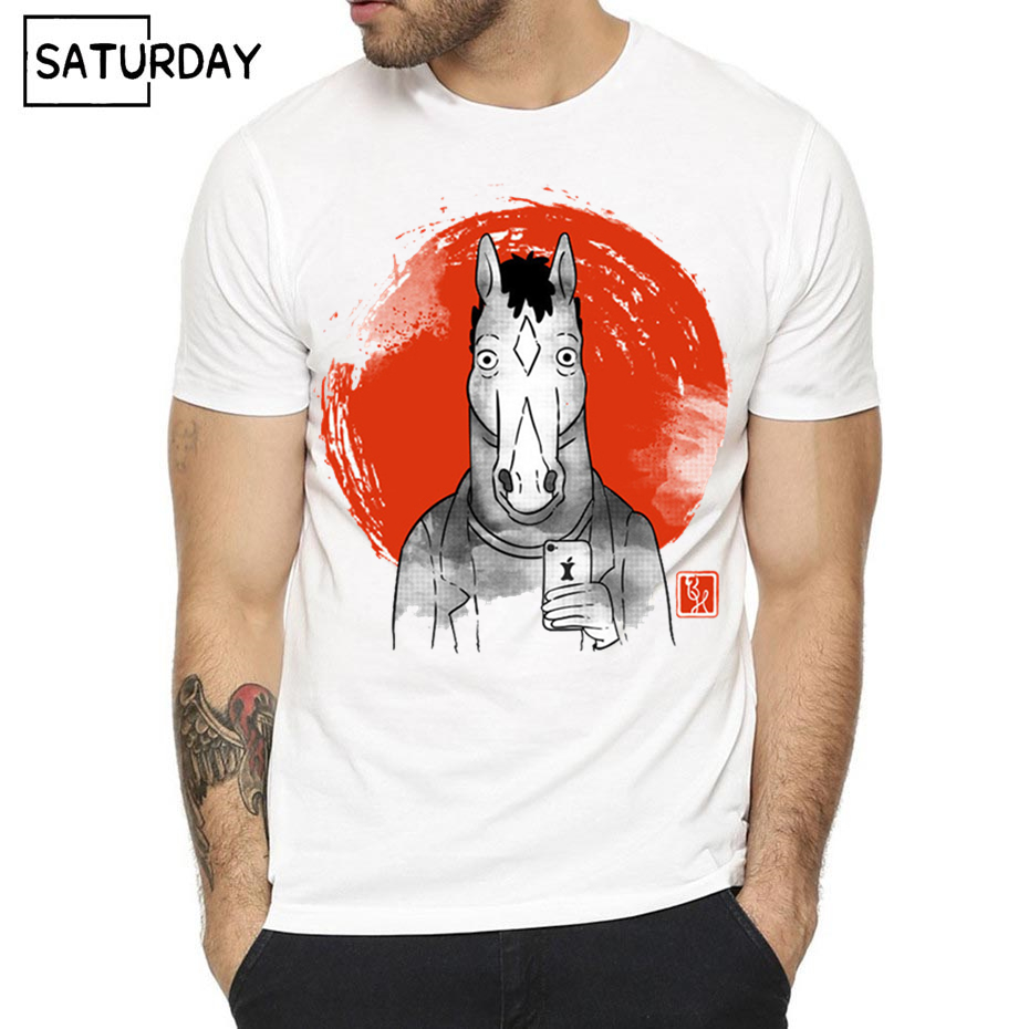 Movie Bojack Horseman   T     Shirt   For Men and Women Summer Fashion Male O Neck Print   T  -  Shirts   Men/women Graphic Tees Men