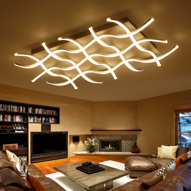 Rectangle acrylic modern led ceiling lights for living room bedroom lamparas de techo colgante square led ceiling lamp fixture verllas new modern led ceiling lights for living room bedroom white or black aluminum rectangle ceiling lamp lamparas de techo