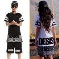 Лето футболки мужчины и женщи хип-хоп футболки длинная, Короткая рукава с круглым вырезом свободного покроя - рубашка хлопок уличная одежда