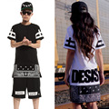 2015 New Summer Fashion T Shirts Men And Wome Hip-Hop T-Shirt long, Short Sleeves O-Neck Casual-Shirt Cotton Streetwear