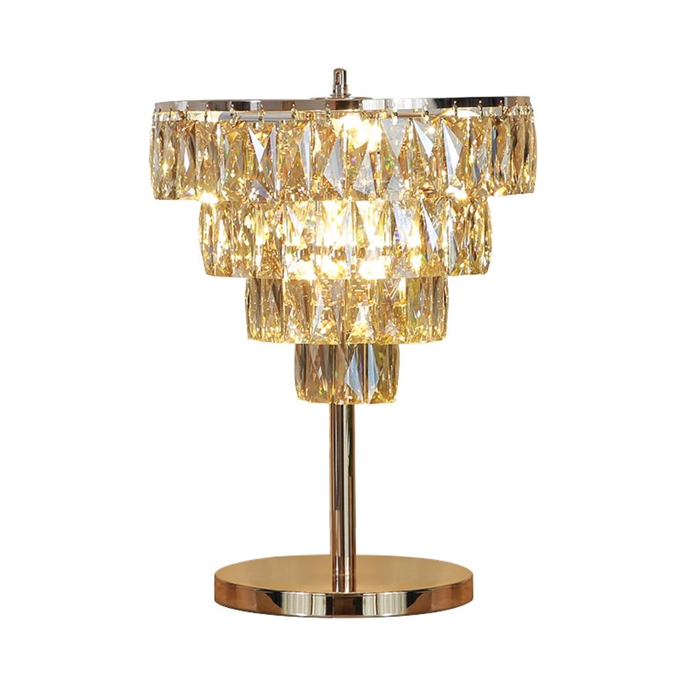 Design Lampade Da Tavolo us $394.4 15% off|luxury design living room crystal table lamp modern gold  table lights ac110v 220v lustre lampade da tavolo bed light|led table