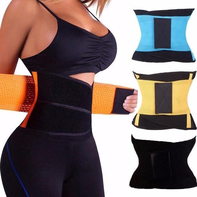 3c3d417df9534 2018 New Slimming Sweat Belt Waist Trainer Underwear Waist Corsets Hot Body  Shaper Women Belt Binder Underwear Modeling Strap