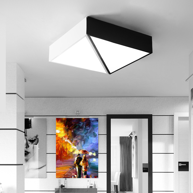 aliexpress : weiß schwarz dimmbar kreative geometrie diy led