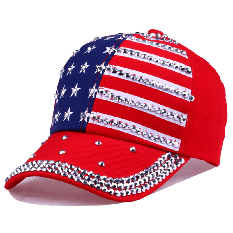 New Arrival Fashion 2019 Men Casual Rhinestone Hats Female Baseball Cap Bling Diamond Hat With High Quality Hots in Men 39 s Baseball Caps from Apparel Accessories