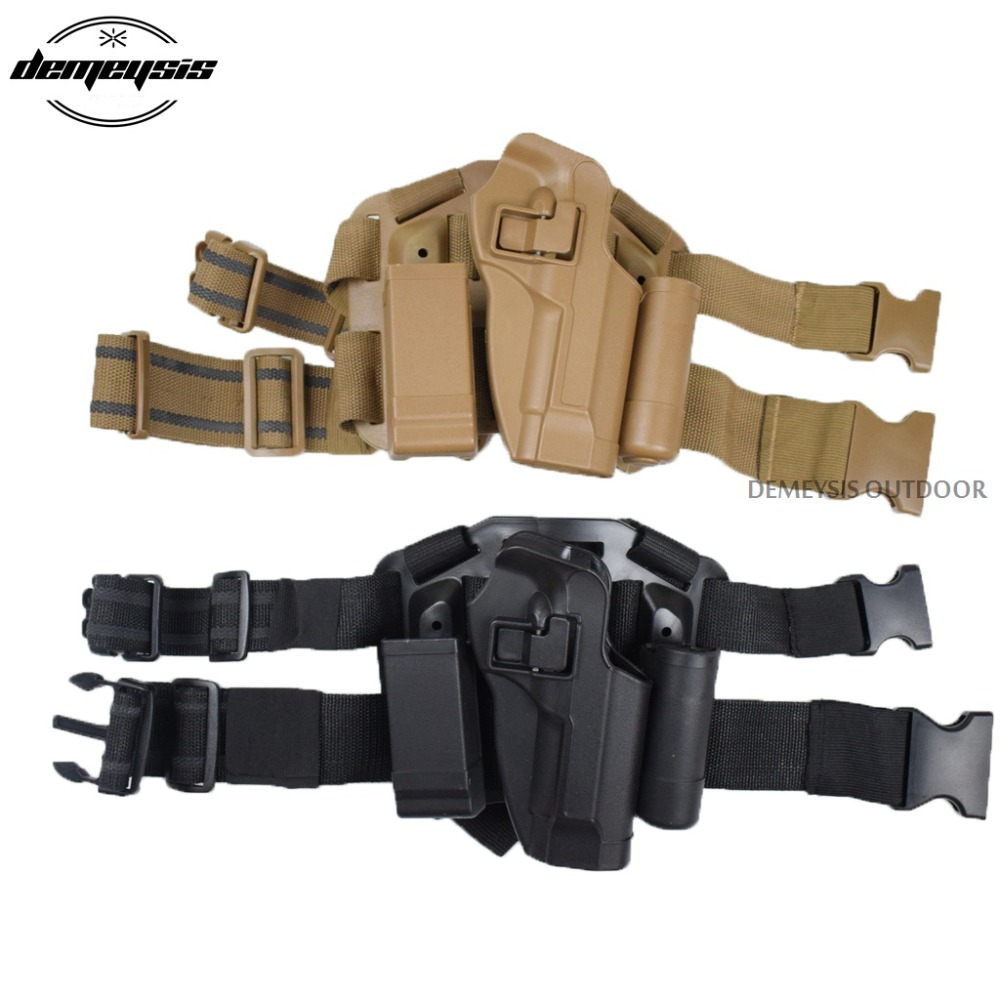 Tactical Military Hunting Gun Holster Pata derecha Paddle muslo Hand Drop Holster para M9 M92