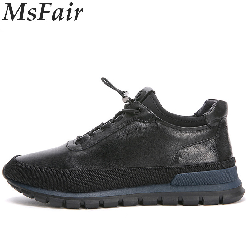 MSFAIR 2018 New Men Running Shoes Genuine Leather Sport Shoes For Men Outdoor Athletic Men Sneakers Walking Shoes Man Brand msstor retro women men running shoes man brand summer breathable mesh sport shoes for woman outdoor athletic womens sneakers 46
