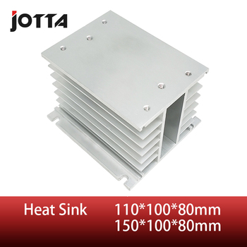 цена на H shape 110*100*80mm/150*100*80mm Aluminum SSR Heat Sink for less than 75A three phase solid state relay