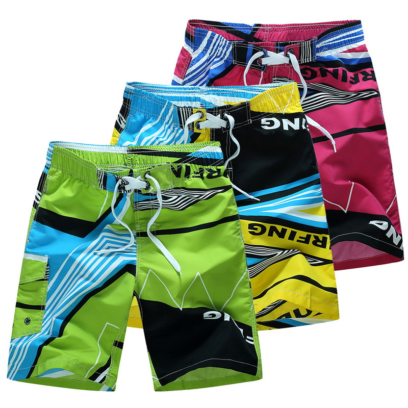 Adisputent Men Beach Shorts Women Fashion Trunks Printed Ladies Boardshort Drawstring High Waist Sportwear Loose Swim Shorts Board Shorts