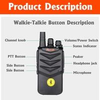 מכשיר הקשר מכשיר הקשר דיבורית אוזניית Bluetooth אלחוטית אוזניות כף יד שני הדרך רדיו אלחוטי אוזניות Buletooth אפרכסת (3)