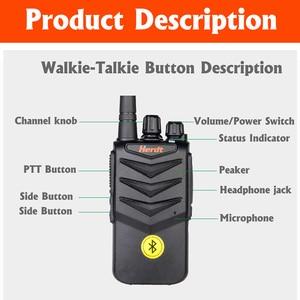 Image 3 - Walkie Talkie Hands free Bluetooth Headset Wireless Earphone Handheld Two Way Radio Wireless Headphones Buletooth Earpiece