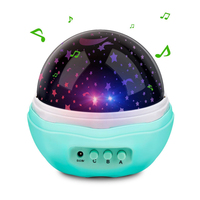 Multicolor Moon Star Projector Night Light Rotating Starry LED Baby Sea Projection Lamp for Kids Living Room and Bedroom