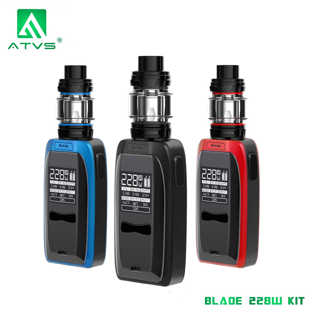 Original ATVS Blade Vape Mod Starter Kit E Cigarette 228W VW TC Box Mod 5ml Top-Fill SR-11 Atomizer Tank Vaporizer vs Revenger X(China)