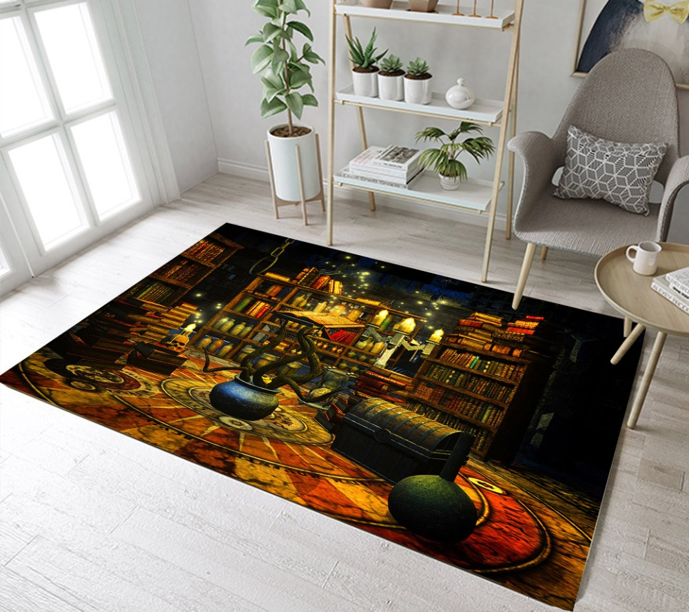 LB Magie Bücher Und Tiegel Mit Reben Wohnzimmer Indoor Teppiche Bad  Nicht-slip Matte Küche Fußmatte Schlafzimmer Boden bereich Teppiche