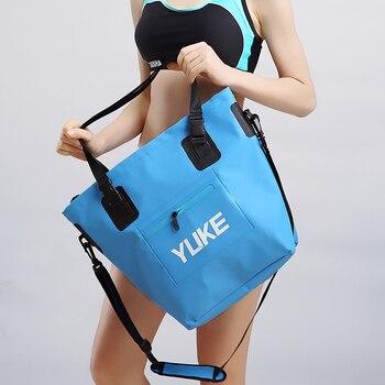 20L наружная комбинированная сумка для сухих и влажных вещей, ПВХ высокочастотная сварочная водонепроницаемая сумка для кемпинга, восходящи...