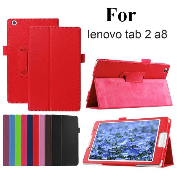 Kaitsekott Folio PU nahast kaitseümbris Lenovo Tab 2 A8-50LC Litchi - Tahvelarvutite tarvikud - Foto 1