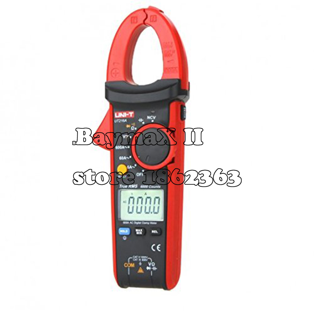 UNI-T UT216A True RMS Digital Clamp Meters Auto Range w/ NCV Capacitance AC/DC Voltage AC Current Ohm Test my68 handheld auto range digital multimeter dmm w capacitance frequency
