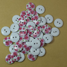 50PCS 2 Holes Wholesale Mix Styles Random Send Cartoon Flatback Wooden Buttons DIY Scrapbooking Sewing Crafts