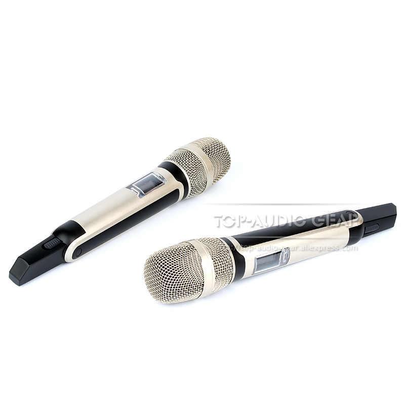 Бесплатная доставка 2 x портативная петличный нагрудный микрофон для головы Профессиональная Беспроводная микрофонная система для караоке сценическая Конференц-