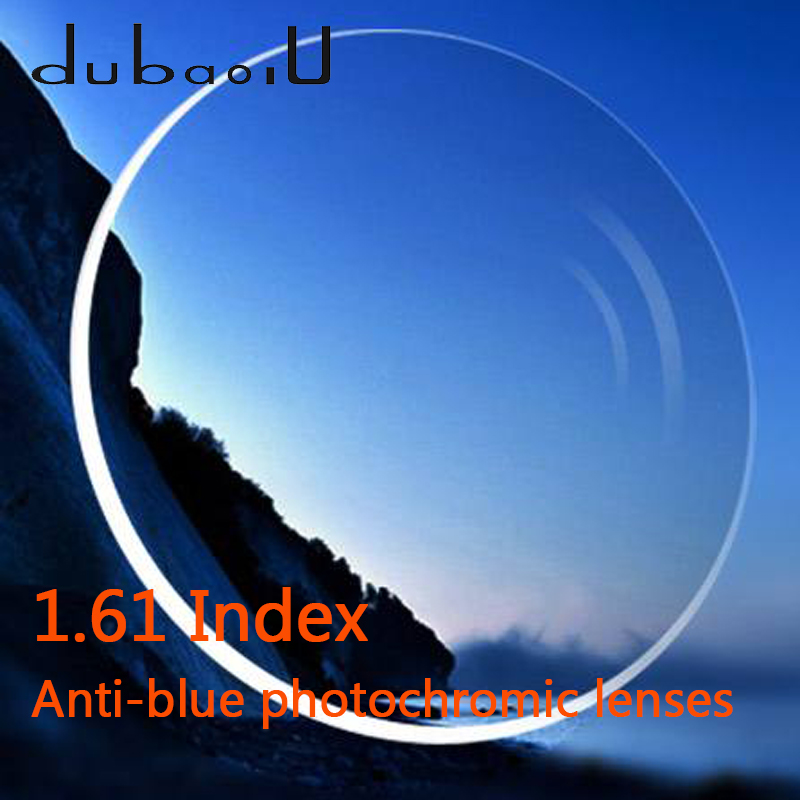 1.61 lentilles photochromiques anti-rayons bleus ordinateur asphérique professionnel lentilles d'hyperopie de myopie optique Anti-rayonnement