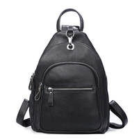 Genuine Leather Bags Famous Brand Backpacks For Teenage Girls Real Leather Fashion Multi Function And Multi