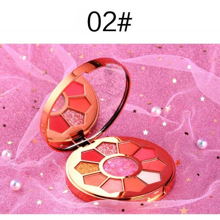 11 Colors Eyeshadow Makeup Pigments Waterproof Shimmer Glitter Eye shadow Make up Palette maquiagem - Цвет: A2