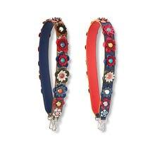 Sac à main sangle coloré fleur sangle vous sac accessoires microfibre matériel lumière or métal fermoirs mode sac bretelles pour femmes
