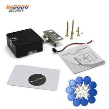 Keyless verrou darmoire électrique cabinet serrure Invisible Caché cabinet tiroir Serrure soutien 13.56 Mhz IC carte ou 125 KHz ID RFID carte