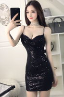 2017 Winter Women Gown Empire Waist Sequined Elegant Casual Bodycon Pencil Evening Party Dresses Plus