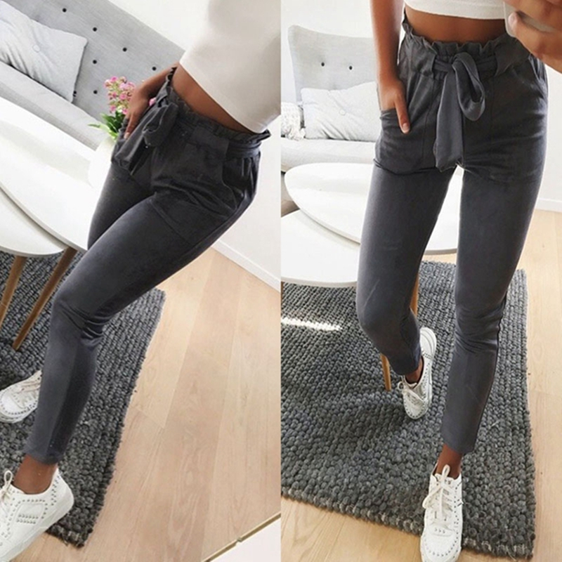 High Waist Pants Women Fall 2018 Fashion Casual Clothes Slim Skinny Long Straight Pants Pencil Pants Trousers For Women