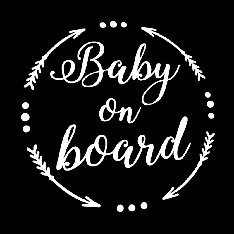 Image 2 - QYPF 15.8CM*15.6CM BABY ON BOARD Baby In The Car Stickers Warning Vinyl Decoration S9 2060-in Car Stickers from Automobiles & Motorcycles