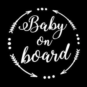 Image 2 - QYPF pegatinas de advertencia para bebé, 15,8 CM * 15,6 CM, S9 2060 de decoración de vinilo