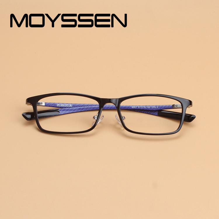 Men's Eyewear Frames Men's Glasses Original Quality Ultra Light Ultem Carbon Fiber Tungsten Optical Myopia Glasses Frame Men Women Unisex Square Eyewear Blue Green Leg