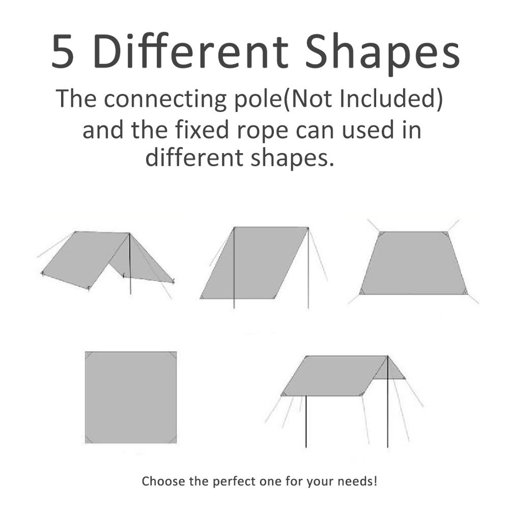 GEERTOP 1-3 Person Ultralight Waterproof Tent Tarp Footprint Ground Sheet Mat For Camping Hiking Picnic
