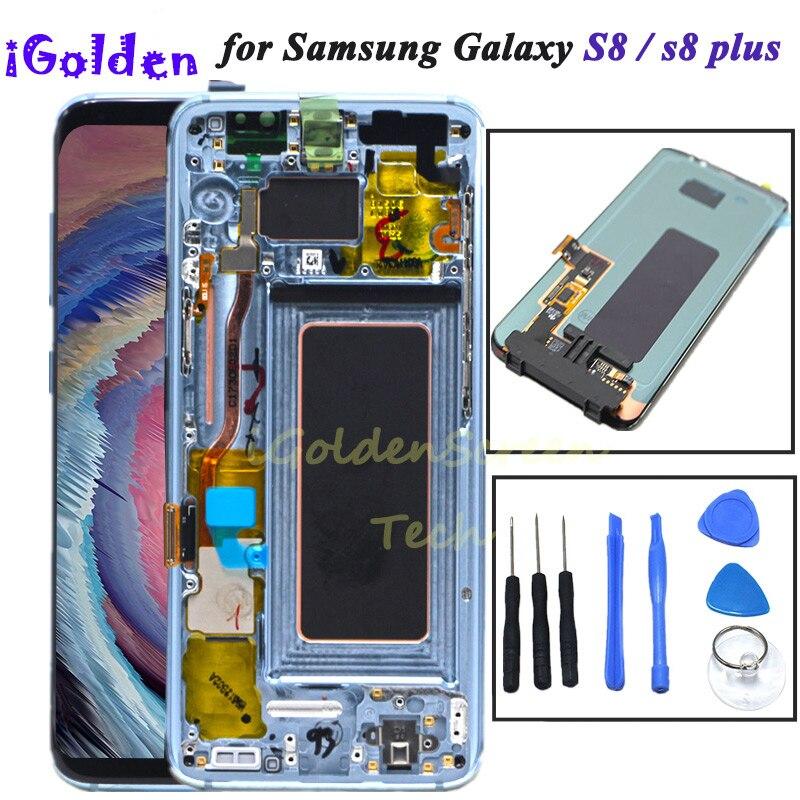 Для samsung S8 ЖК дисплей с заменой кадров для samsung Galaxy S8 плюс ЖК дисплей G955 S8 G950 G950F Дисплей ЖК дисплей Сенсорный экран планшета