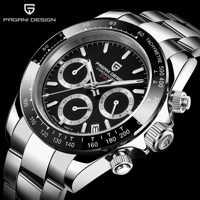 PAGANI Mens Watches Top Brand Luxury WristWatch Quartz Clock black Watch Men Waterproof Sport Chronograph Relogio Masculino