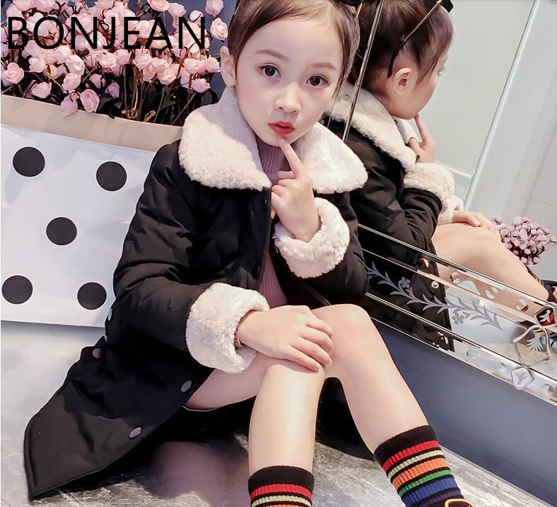 Children s wear girls autumn coat 2018 new quilted girl children winter clothes cotton coat tide