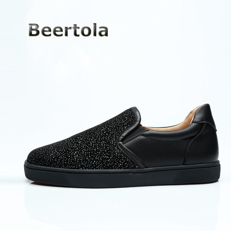 Mens Sneakers As Flats Men Borracha Dos Slip Glitter Moda Sapatas Casual Apartamentos De Sapatilhas Beertola On Shown Homens Negros Sola Sapatos 67qPYH