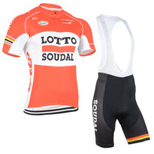 2016 New Arrivals LOTTO Men's cycling Short sleeve bib shorts sets pro team Sport ropa ciclismo mujer Breathable Quick dry Lycra