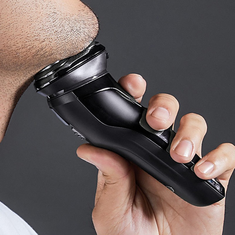 Electric Shaver SO WHITE ES3 3D Smart Electric Shaver USB Rechargeable 3 Head Intelligence Control Razor Waterproof Beard Trimme in Electric Shavers from Home Appliances
